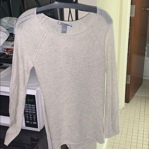 Sweaters - Light Heather Grey Cashmere top!